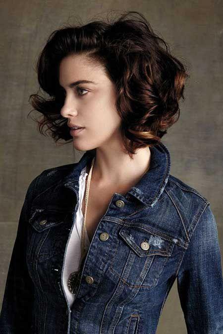 Short Hair Cuts for Curly Hair. Cute curly short hair.