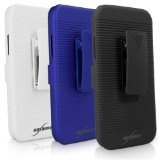 BoxWave Dual+ Holster Samsung Galaxy Note 2 Case - 3-in-1 Case with Holster Combo Includes Protective Case and Belt Clip Holster with Integrated Viewing Stand