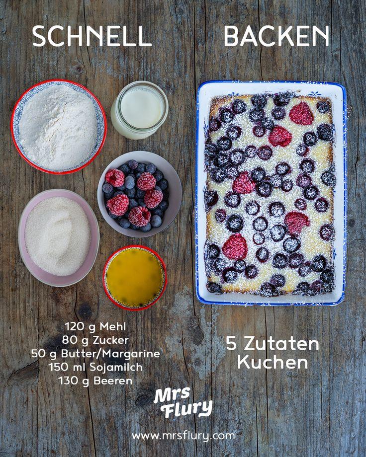 5 Zutaten Cake Vegan – Lightning Cake Mrs. Flury – Gesunde Rezepte Frühstückstorte …   – Gesunde Rezepte Mrs Flury Blog – meine Lieblingsrezepte