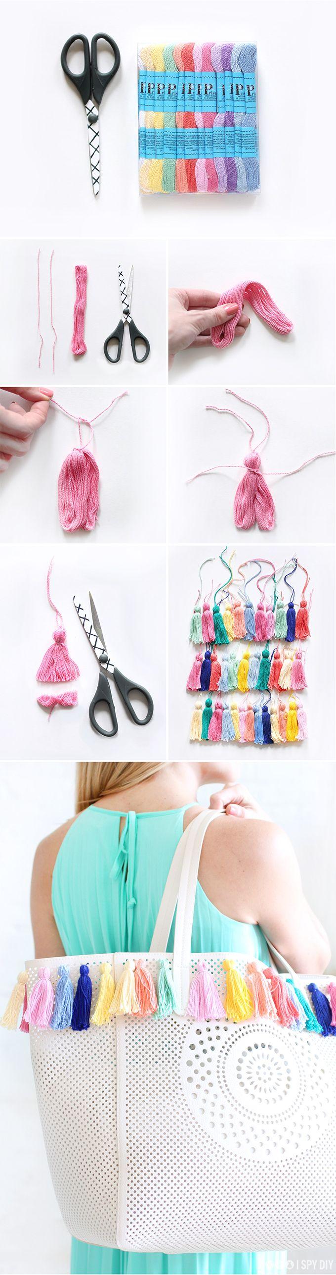 Pimp your Bag - DIY Upcycling eienr Tasche mit Tasseln