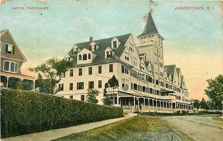 rhode island postcards | Rhode Island RI Jamestown Hotel Thorndike 1907 Postcard | eBay