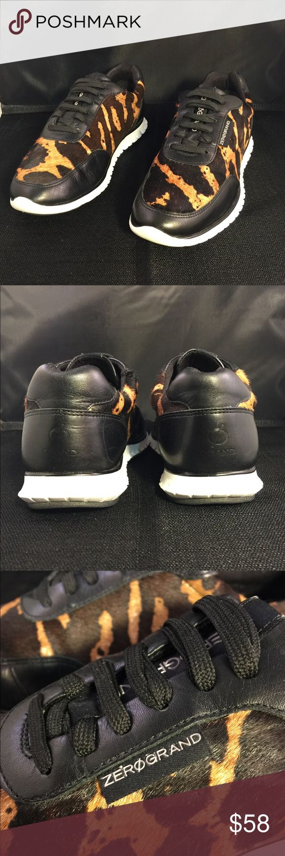 """Authentic """"Zero Grand"""" sneakers These size 7 1/2 pair of ZeroGrand GRAND.OS by Cole Haan is the perfect shoe for looks and miles of comfort. Originally priced at $149.99, these can be yours for just $58.00 today. ZeroGrand Shoes Sneakers"""