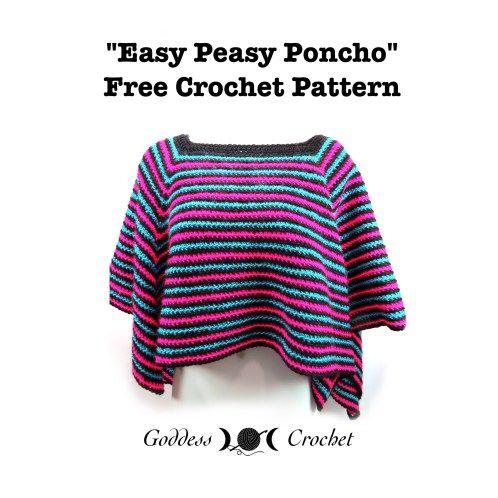 Free Tunisian Crochet Poncho Patterns : free poncho crochet pattern, easy poncho crochet pattern ...