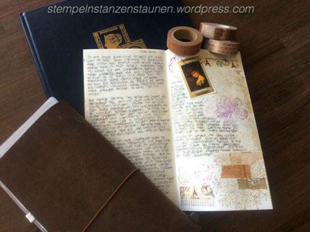 Midori Traveler's Notebook, TNB, Journal, Organizer, Diary, Stampin Up, SU, Berlin, Choose Happiness, Vintage, Vintagestyle, stempeln, stanzen, staunen, Everything Eleanor