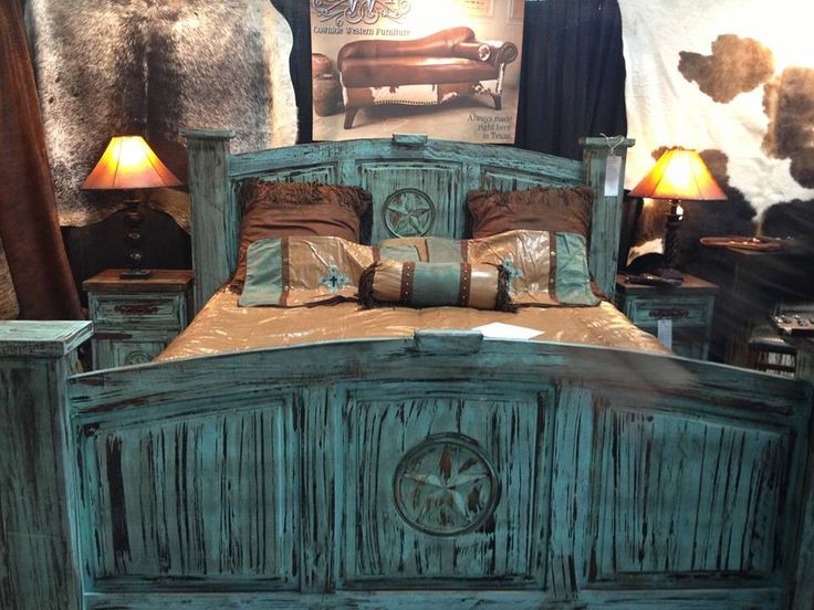 Turquoise Rustic Bed Frames Things To Build Pinterest Paint We And Rustic Bed