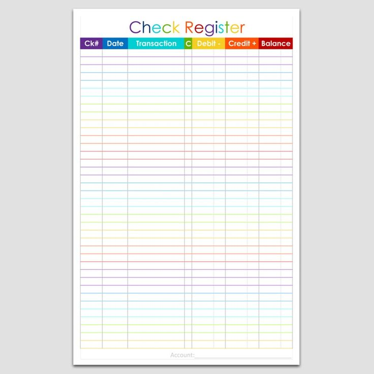 The  Best Checkbook Register Ideas On   Check