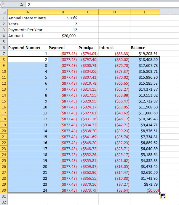 53 best images about 300 Examples – Excel Amortization Schedule