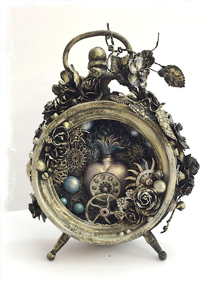 Art+Venture+Project:+Altered+Mixed+Media+Clock - Scrapbook.com