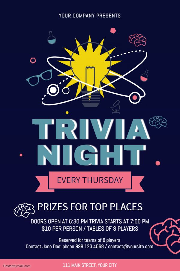 Trivia Night Flyer Templates Download Free