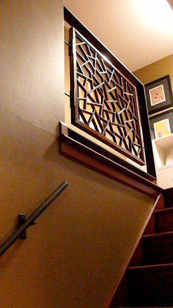 asian antique stair railing