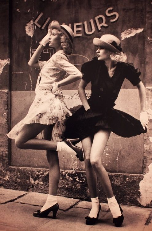 Bobby Socks and Pretty Frocks...Vogue UK 1972