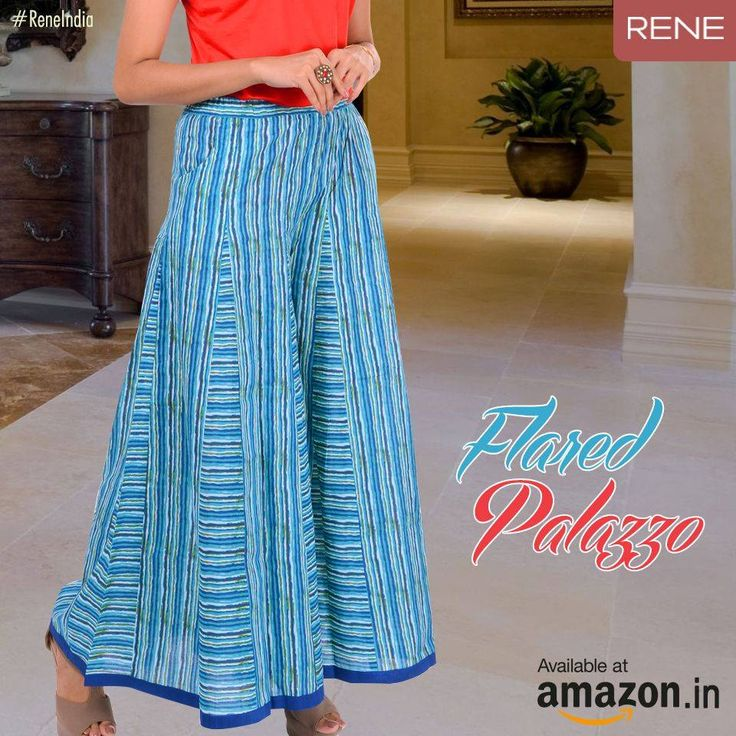 Are you yearning for a beautiful Palazzo? Try our Rene Blue Cotton Palazzo. Giving you the perfect style statement you were desiring.  Get it from #Amazon: http://amzn.to/2ao0iA6  #Palazzo #Women #Cotton #Rene