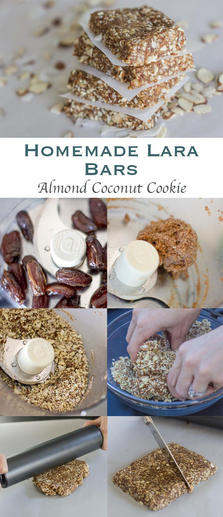 Almond Coconut Cookie Lara Bars made with clean eating ingredients for a healthy snack