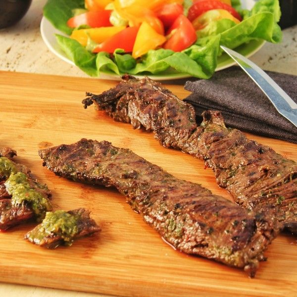 Skirt Steak with Chimichurri Sauce | Recipe