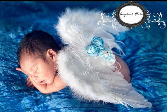 Newborn Baby Angel Wings White Baby Angel Wings by InspiredFlair, $20.00