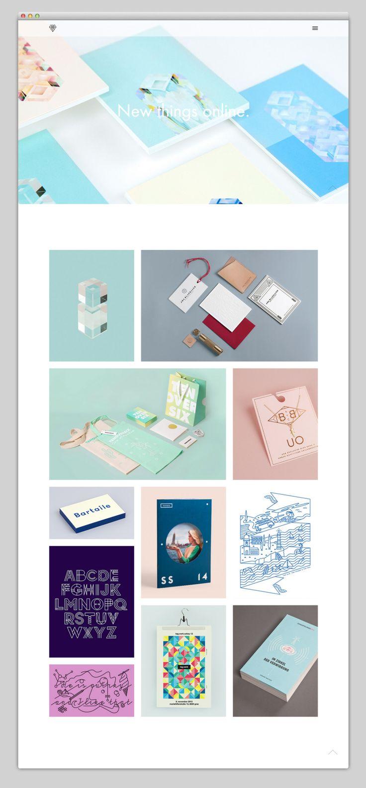 Verena Michelitsch Website Landing Page Design | Minimal grid based website design