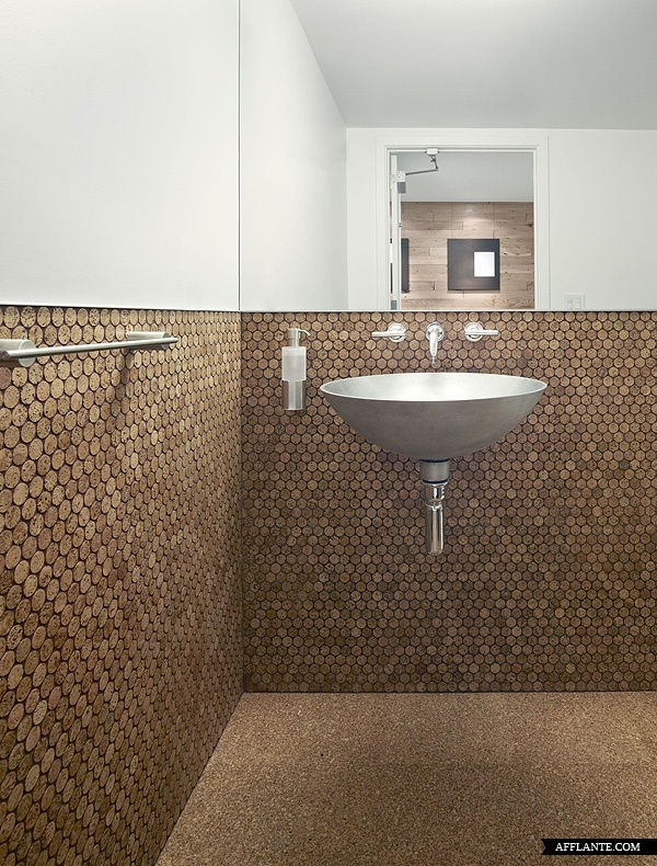 Pictures   The Offices Of Buck ONeill Builders, Inc   Bathroom Is Fitted  With Cork Flooring, And Cork Penny Tile On The Walls   Architizer Part 88