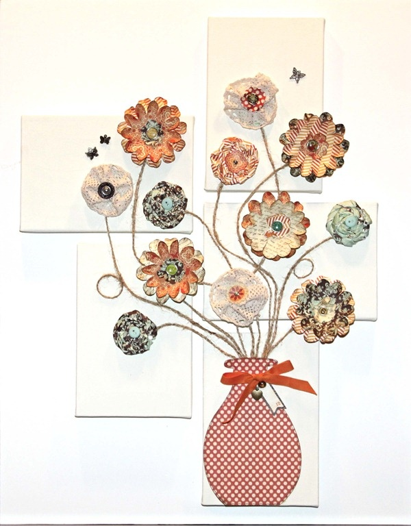 Diy Wall Decor Using Scrapbook Paper : Best images about let your creative side flow on