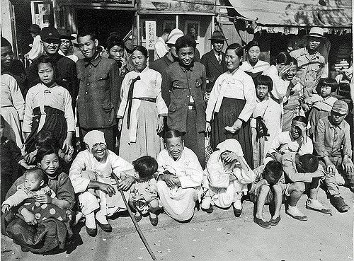 Watching a Parade | Seoul, October 1945: celebrating independence. Don O'Brien.