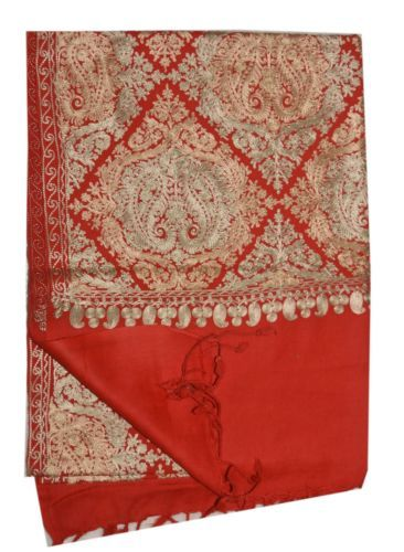 Multi-Color-Wool-Shawl-Embroidered-Kashmir-Ari-Stole-100-Crewel-Pashmina-PS04