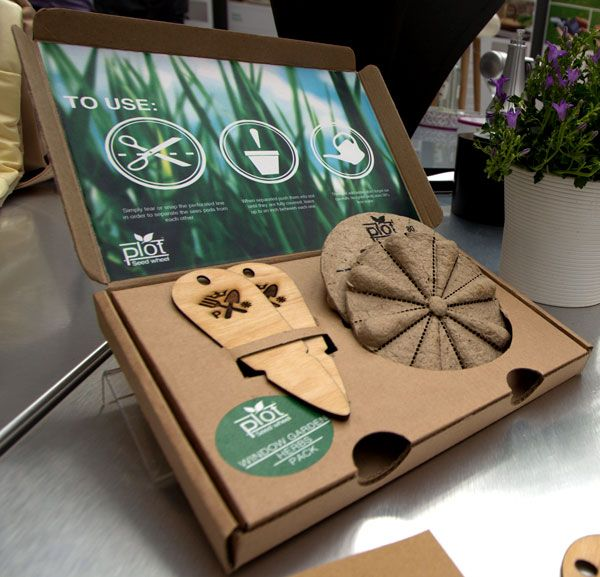 Seed Wheel Concept - seed wheel has perforated lines to allow for multiple planting, no need for gardening tools
