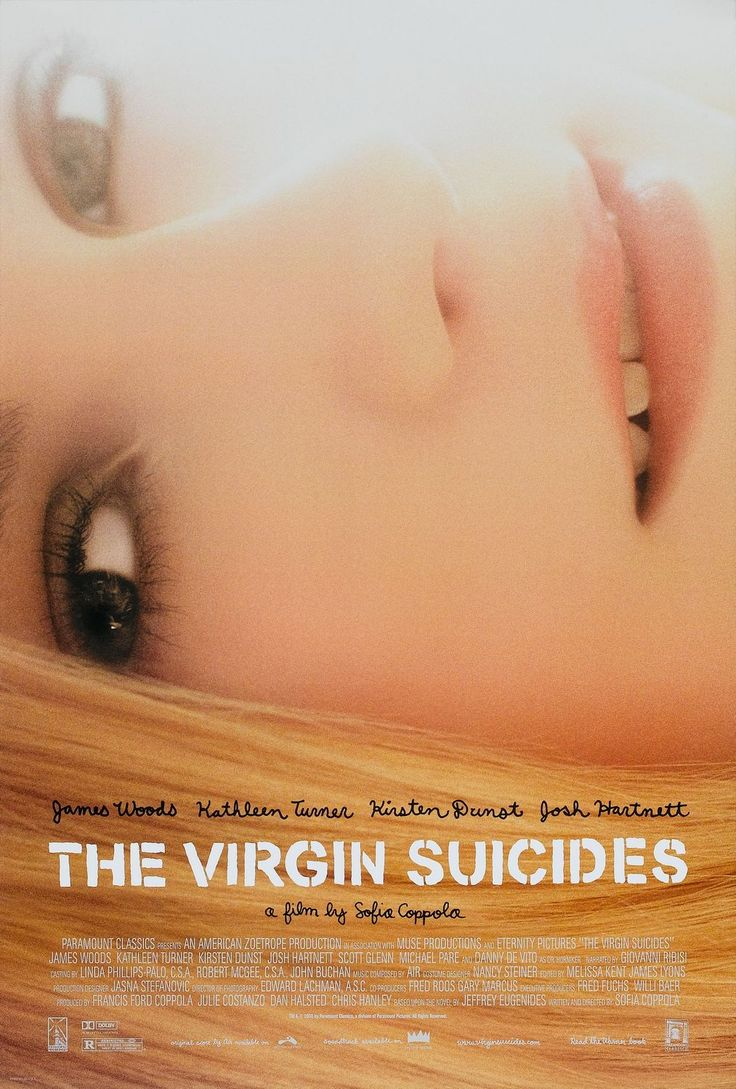 The Virgin Suicides: Film, Movie Posters, The Virgin Suicides, Movies, Sofia Coppola, Book, Favorite Movie
