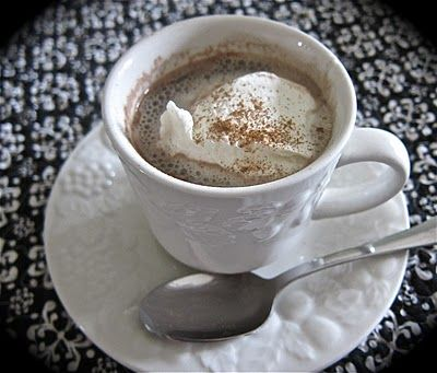 The BEST homemade Hot Chocolate recipe ever...... in a crock pot!!!! I just fell over