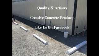 NuDriveways | Concrete Contractor | Parking Curbs | Stamped Concrete - YouTube. For more information visit http://www.nudriveways.com/precast-concrete-parking-curbs-wheel-stops