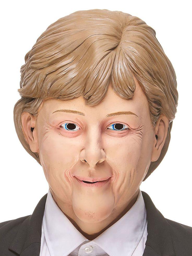 """Angela Maske Politikerin hautfarben-blond aus der Kategorie Masken / Karnevalsmasken. """"Wir schaffen Spaß!"""", ist wohl das Motto bei dieser witzigen Politikermaske!"""