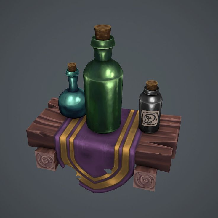Some bottles, Antonio Neves on ArtStation at http://www.artstation.com/artwork/some-bottles