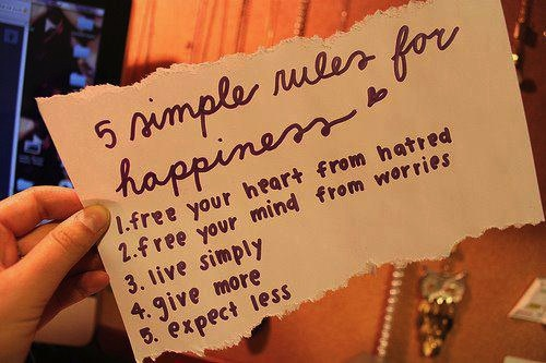 This is a bit of me... 5 Simple Rules for Happiness.