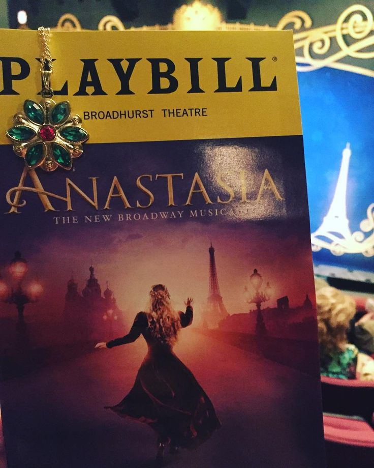 #broadwayshow number two! #anastasiathemusical #newyorkcity @anastasiabway @playbill #journeytothepast