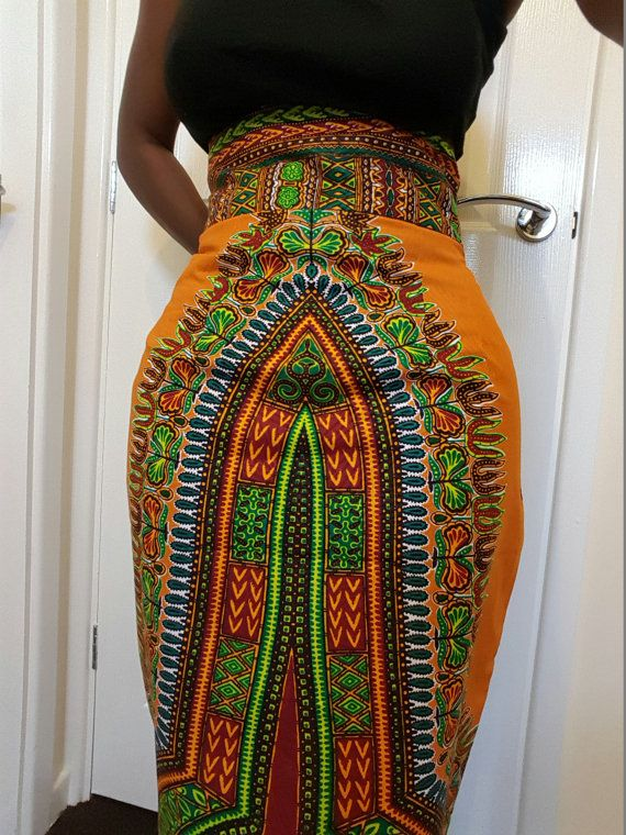 african print pencil skirt/ dashiki pencil by TMFashionaccessories