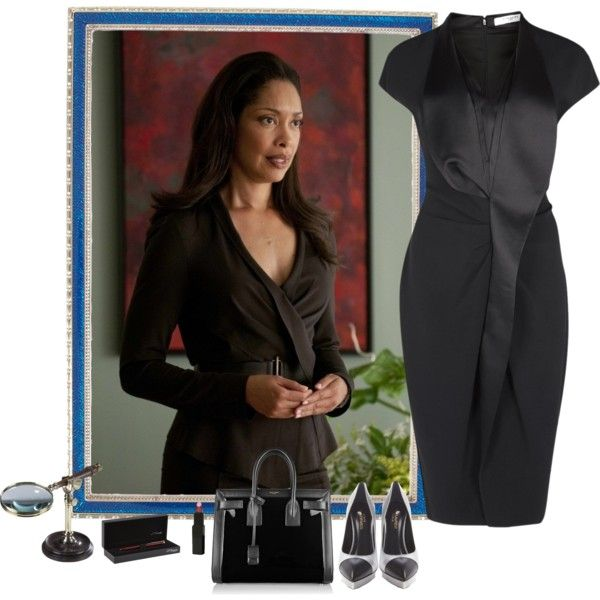 Jessica Pearson, Suits by guemara on Polyvore featuring Givenchy, Yves Saint Laurent, Vincent Longo, Haffke, Authentic Models, S.T. Dupont, Actress, Suits, series and JessicaPearson