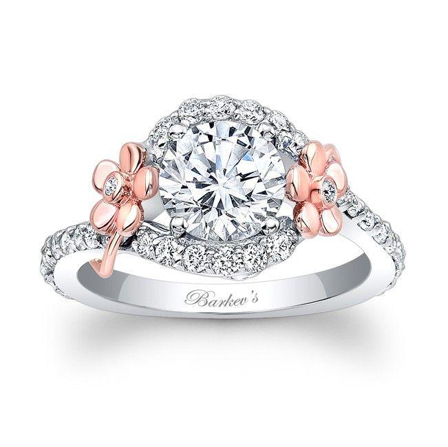 Flower Engagement Ring 7936LTW