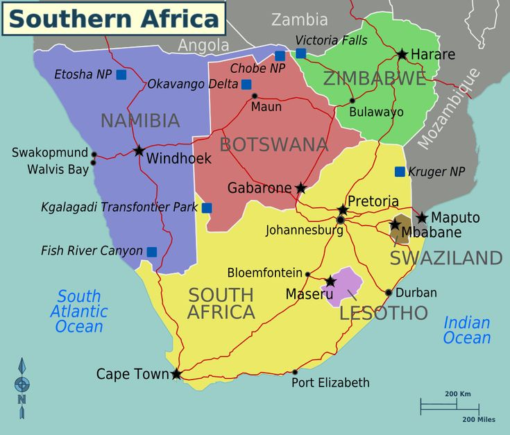 Southern Africa Map Anthro Africa Southern Africa Pinterest - South africa regional map