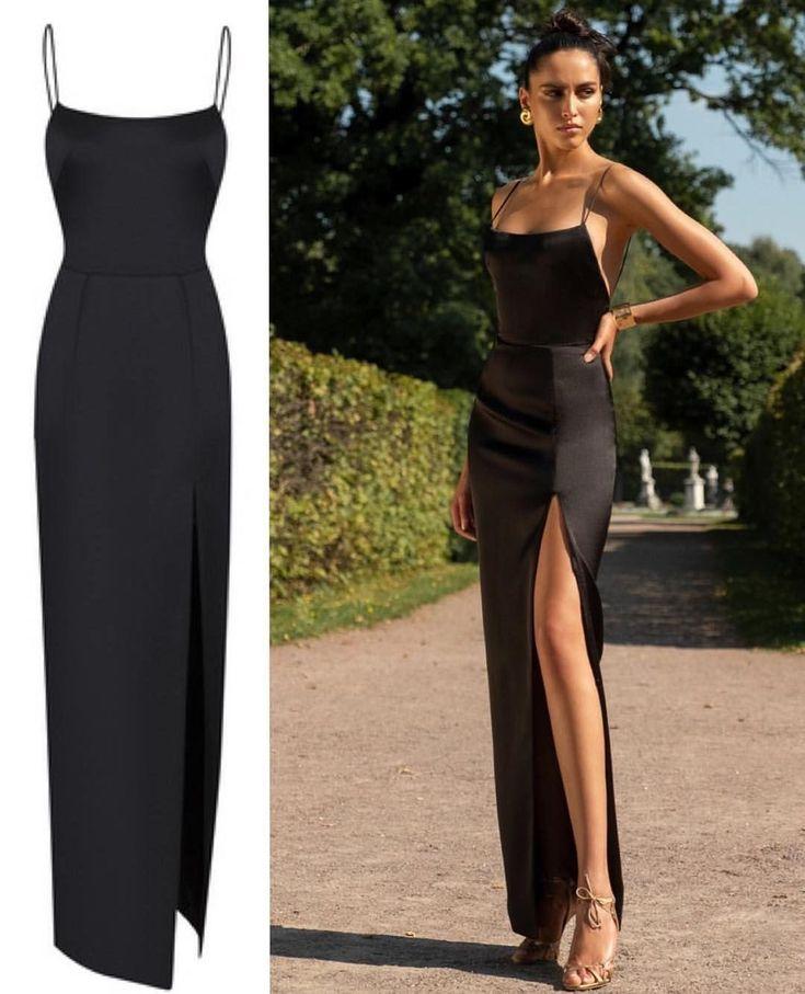 Chic black maxi dress.