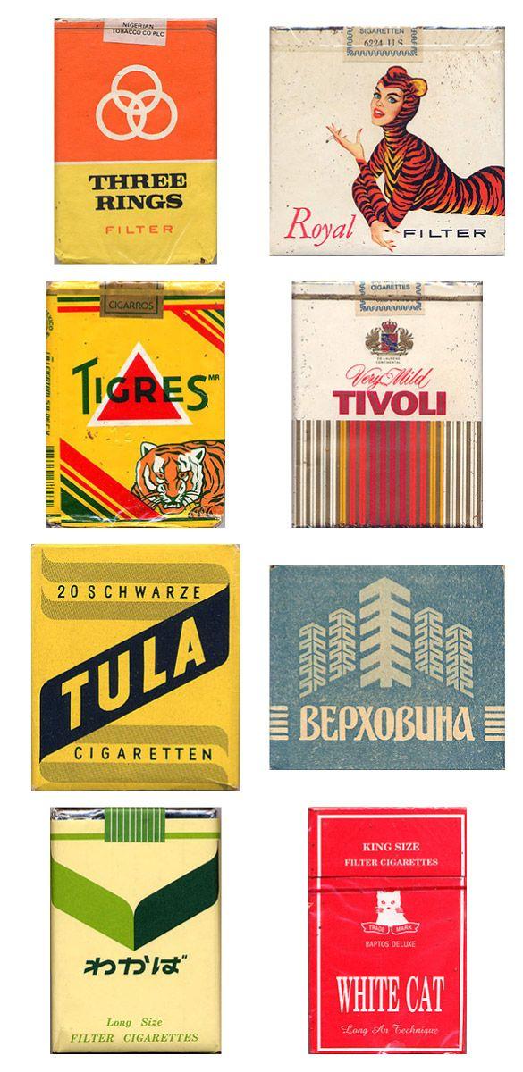 Vintage Cigarette Package Designs