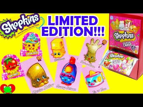 Shopkins Collector Cards with Glitter Limited Editions - YouTube