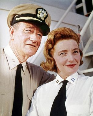 Picture of John Wayne as Capt. Rockwell Torrey, Patricia Neal as Lt. Maggie Haynes from In Harm's Way