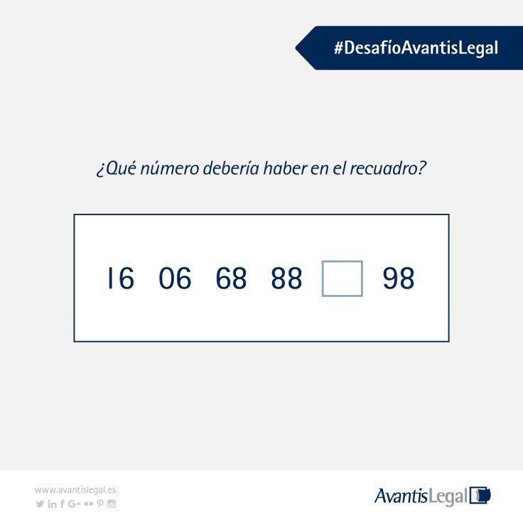 ¿Crees que puedes resolver el  #DesafíoAvantisLegal de hoy? Ánimo es muy fácil!