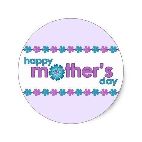 Mothers Day Purple Spring Flowers Sticker #mothersday #crafting