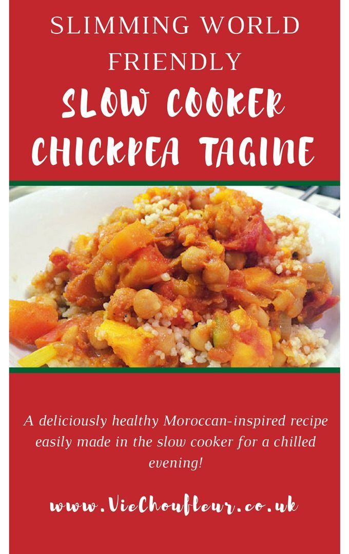 A delicious low-fat recipe for Slimming World friendly slow cooker chickpea tagine