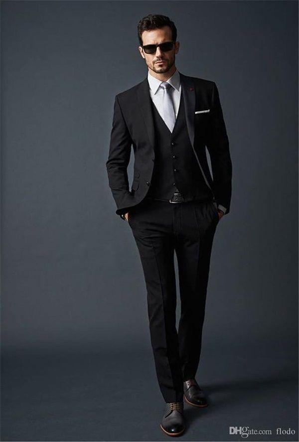 40 Alluring Black Suit Ideas for Men | Black suit men, Mens