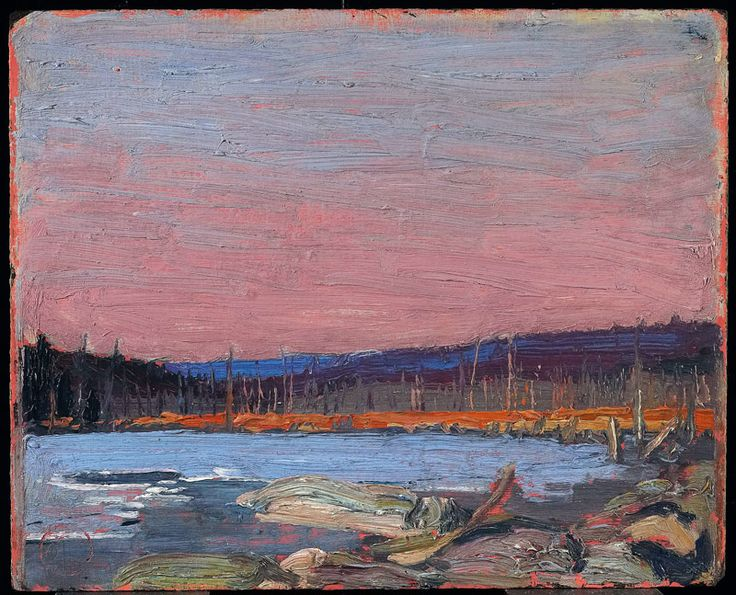 Tom Thomson A Northern Lake c. 1916 Oil on composite wood-pulp board 21.6 x 26.7 cm © Art Gallery of Ontario