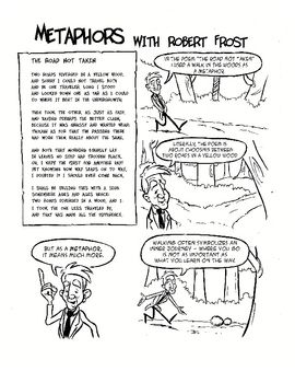 Free - Teaching metaphors with Robert Frost using comics.