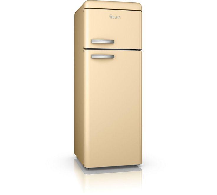 Buy Swan SR11010CN Retro Tall Fridge Freezer - Cream at Argos.co.uk - Your Online Shop for Fridge freezers, Large kitchen appliances, Home and garden.