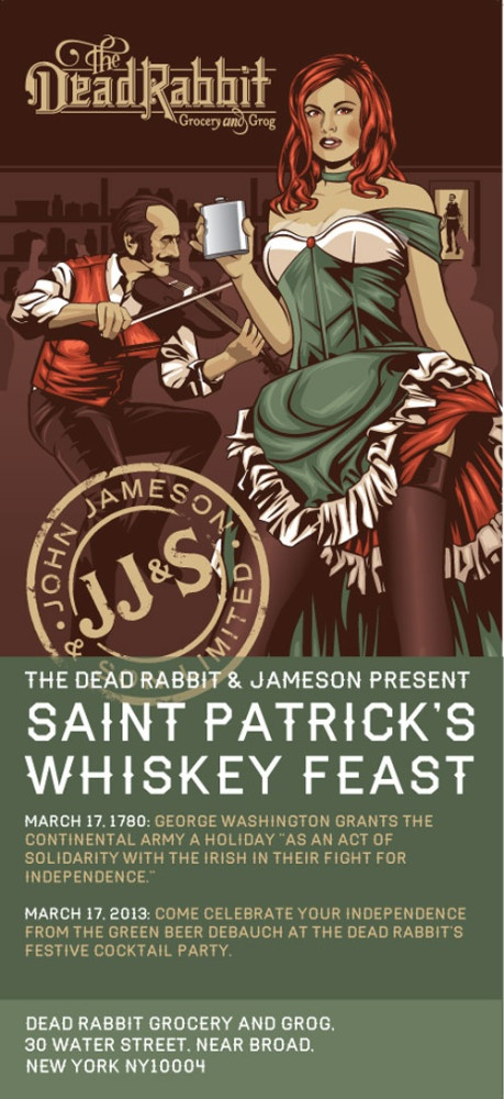 Jameson Whiskey & St Patrick at the Dead Rabbit, NYC