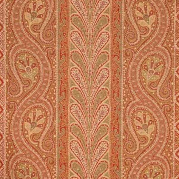 Chatelaine Paisley | 50771 In Red/Moss | Schumacher Fabric | With A Classic  Paisley