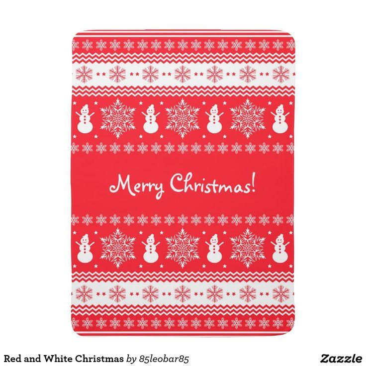 Red and White Christmas Stroller Blanket